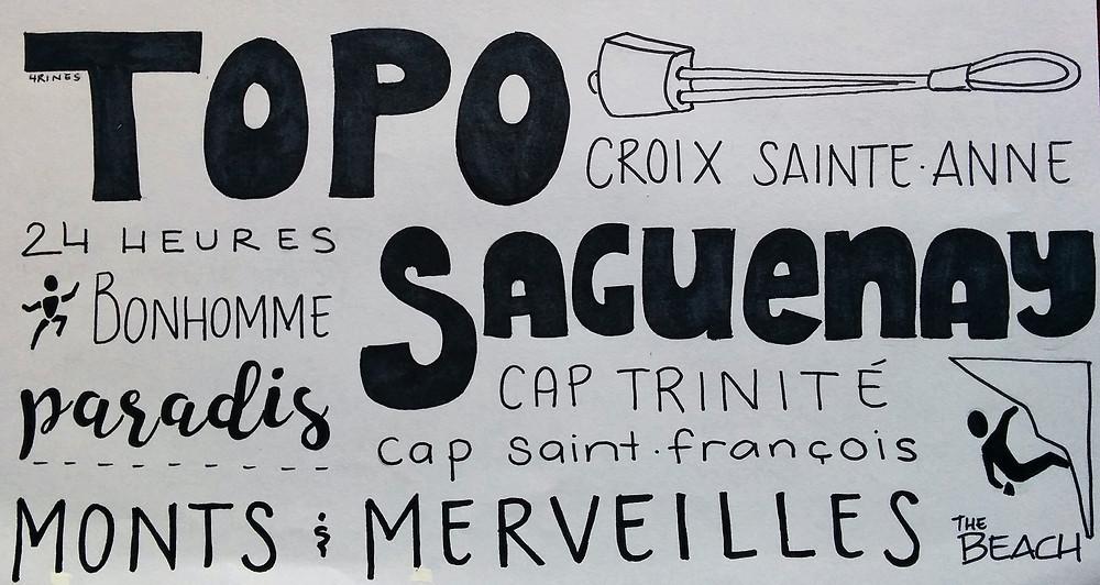 Infographie - Où grimper au Saguenay ?