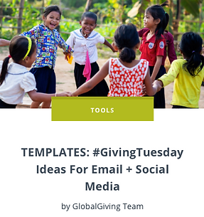 TEMPLATES #GivingTuesday Ideas For Email