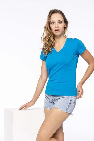 KARIBAN | T-shirt col V Femme K390