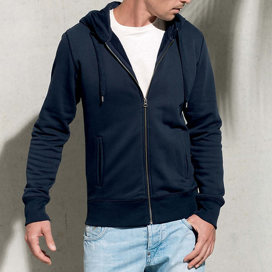 KARIBAN | Sweatshirt zippé capuche Homme K484