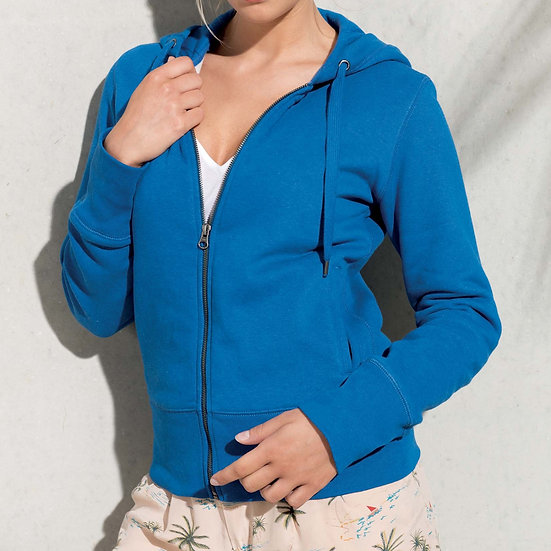 KARIBAN | Sweatshirt zippé capuche Femme K485