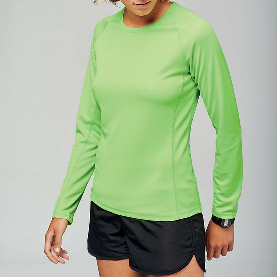 KARIBAN | T-shirt sport manches longues Femme PA444