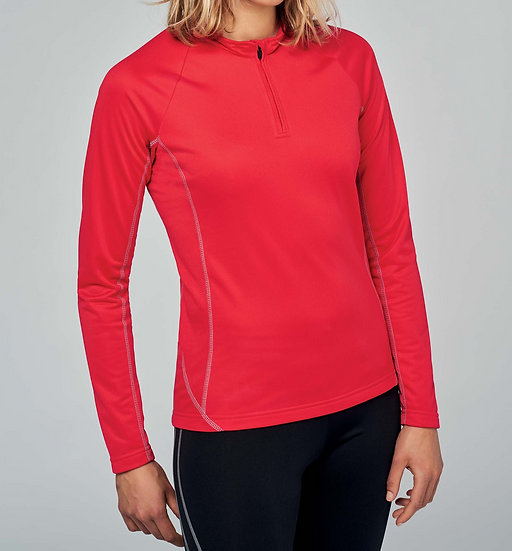 KARIBAN | Sweat running zip Femme PA336