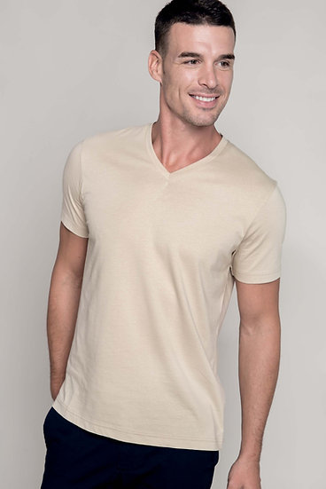 KARIBAN | T-shirt col V Homme K357