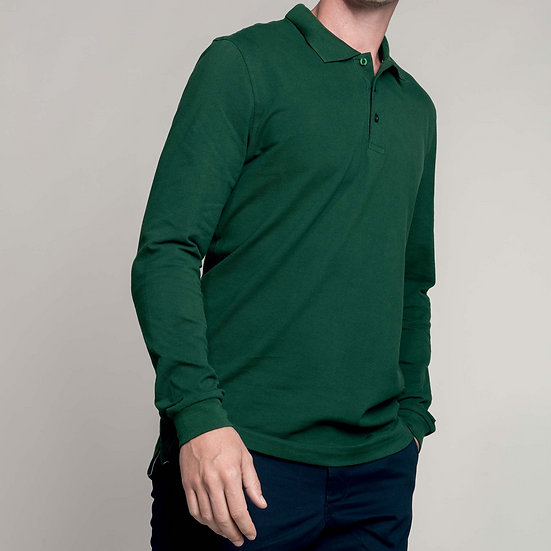 KARIBAN | Polo manches longues Homme K243