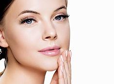 Skin care woman beauty face close up por