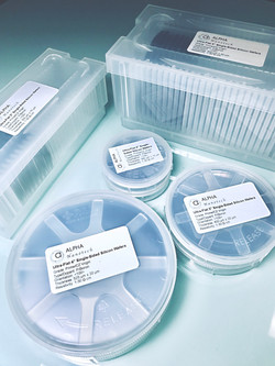 Silicon Wafers in Carriers or Boxes