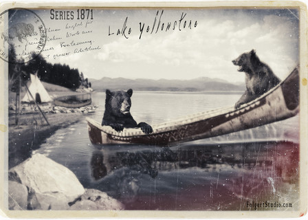 Canoe Tipping. Yellowstone 1871