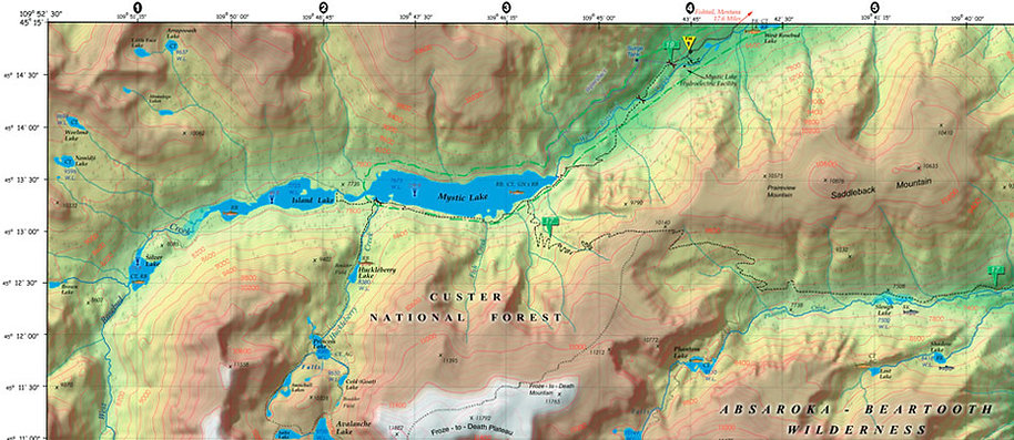 Hiking the Beaten Path, Map of Beaten Path, Montana, Idaho, Wyoming, Jepardy, Alex, Paper Map, Hiking Map, Best Map, All, Topo, Map