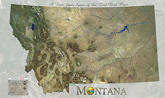 Montana Satellite Map