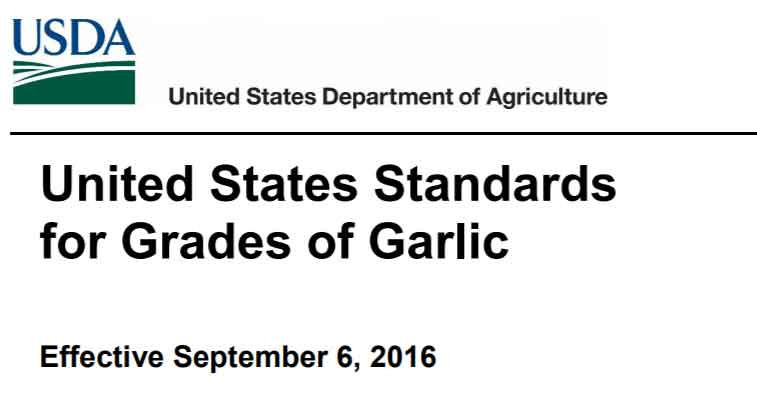 The U.S. grade standards and inspection instructions for all fresh and processed fruits, vegetables, and specialty crops are available on the internet and upon request at the address below. These documents provide detailed interpretations of the grade standards and provide step-by-step procedures for grading the product. Grade standards are issued by the U.S. Department of Agriculture (USDA) after careful consideration of all data and views submitted during rulemaking. The Department welcomes suggestions for improving the standards in future revisions. Comments may be submitted to, and copies of standards and inspection instructions o