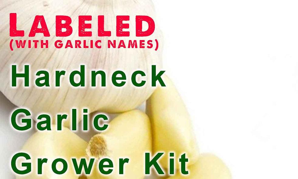 Hardneck Garlic Grower Kit  (Labeled Cloves [cultivar name] with Instructions)