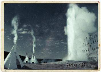 Teepee Moon. Yellowstone 1871