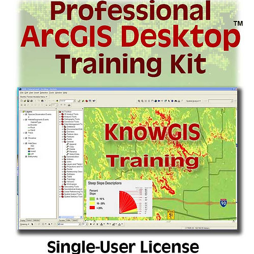 Professional Training for ArcGIS Desktop 10.x (single-user license)