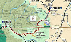Beartooth Highway Map