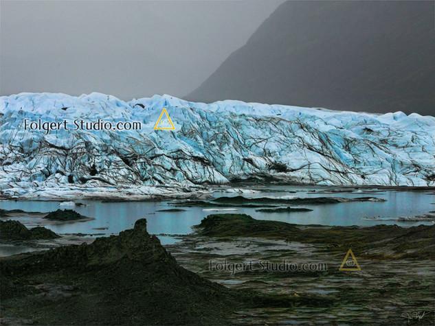 Matanuska Glacier in the Rain