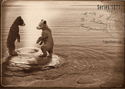 Bear Cubs at Cone. Yellowstone 1871