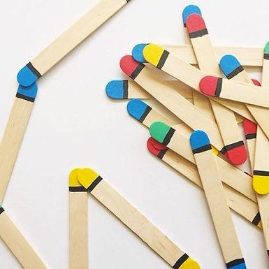 Dominos en bâton de glace