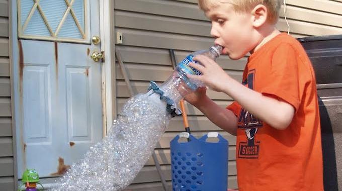 Bouteille à bulles de savon !