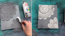 Peinture avec un napperon