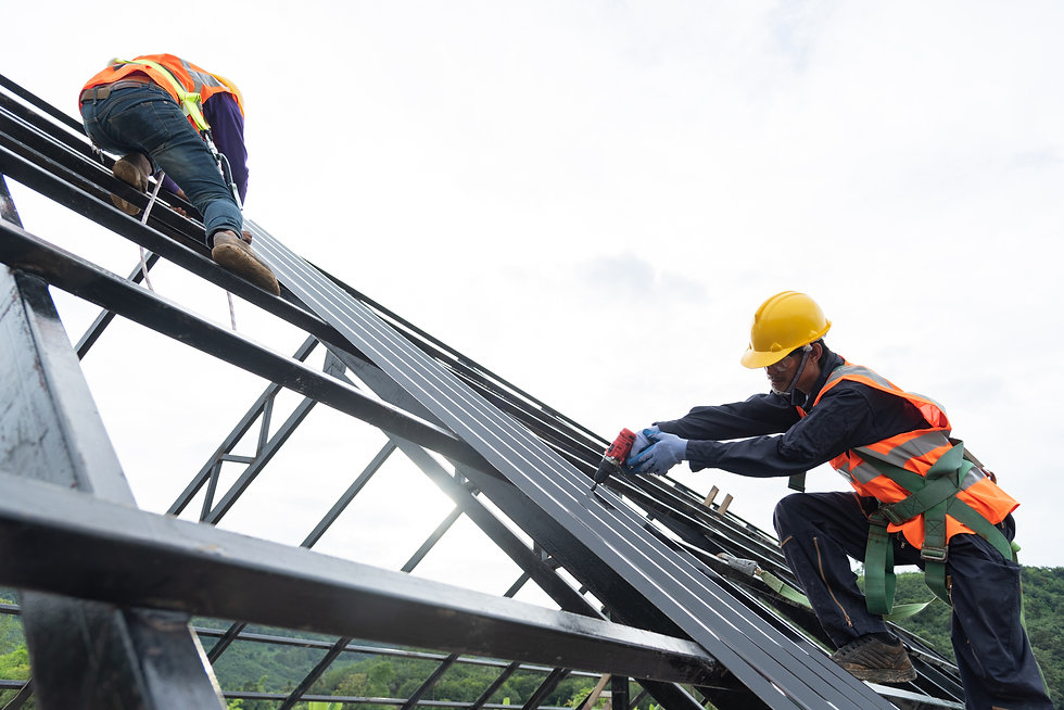 The Roofer technicians work on the roof