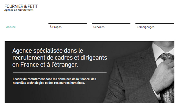 Droit et Finance website templates – Cabinet de Recrutement