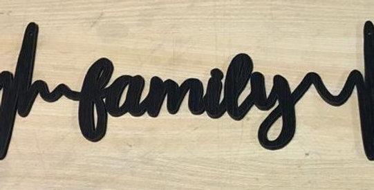 Wooden words wall art