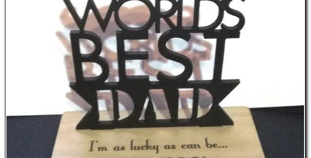 WORLD'S BEST DAD stand