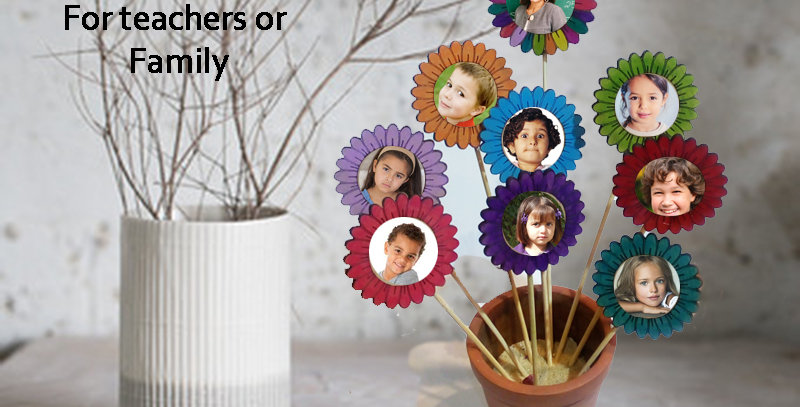 Personalized picture wooden flower pot