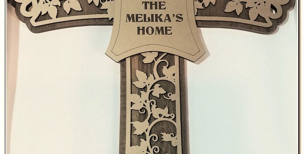 Personalized engraved wooden cross