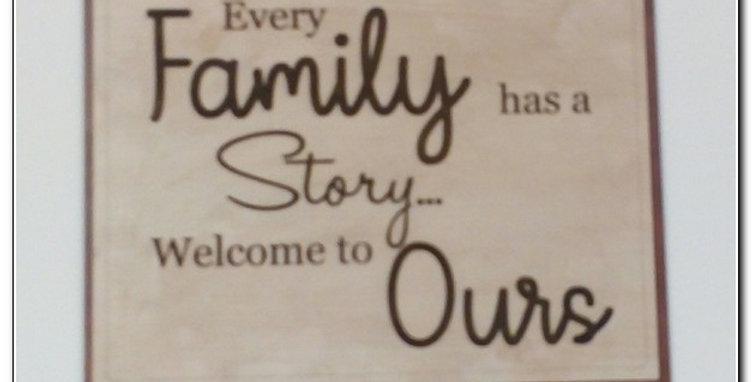 Family story wall art