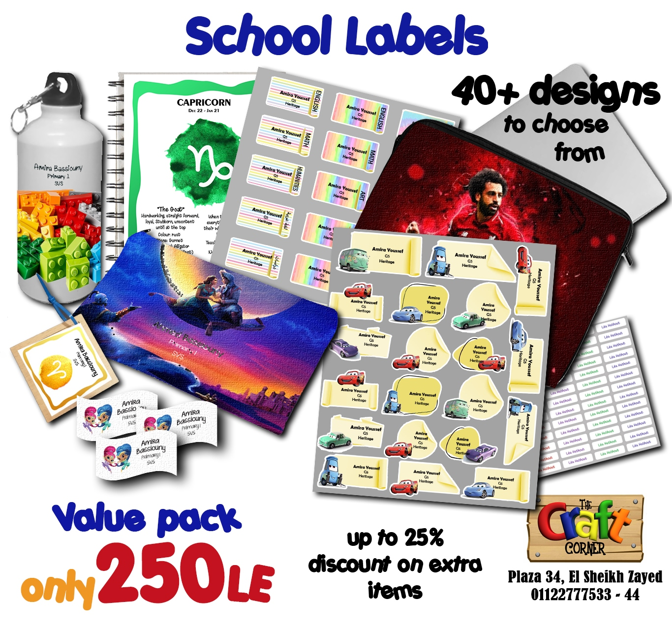 School labels ad