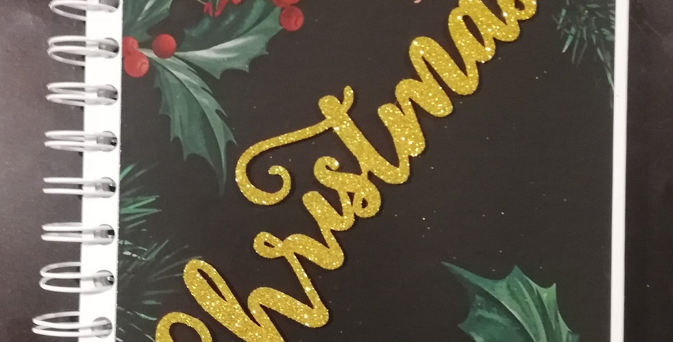 Christmas themed yearly planner