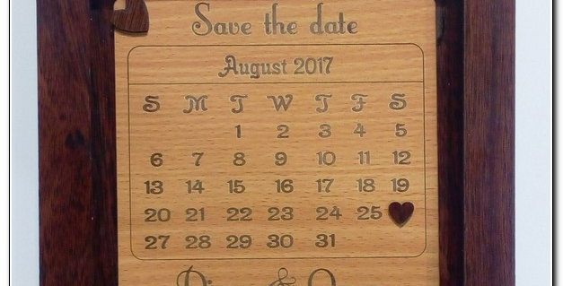 Save the date shadow box