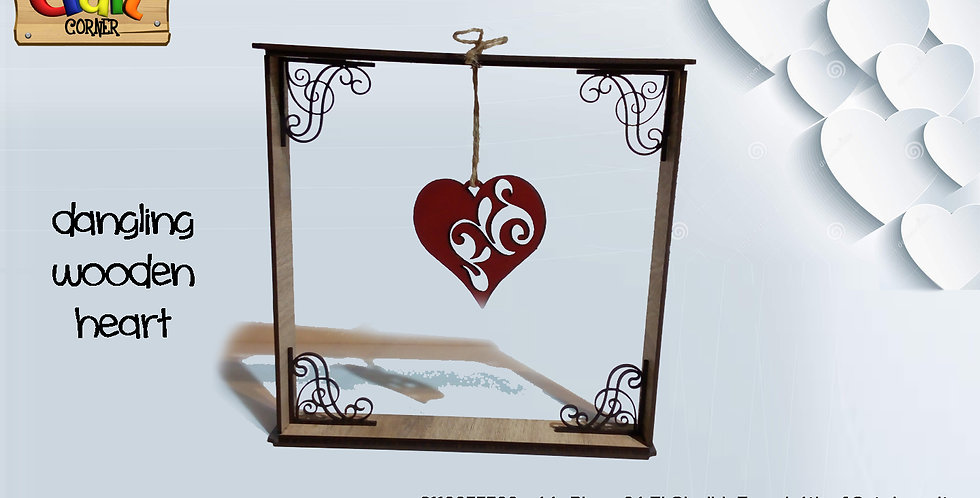 Dangling heart frame stand