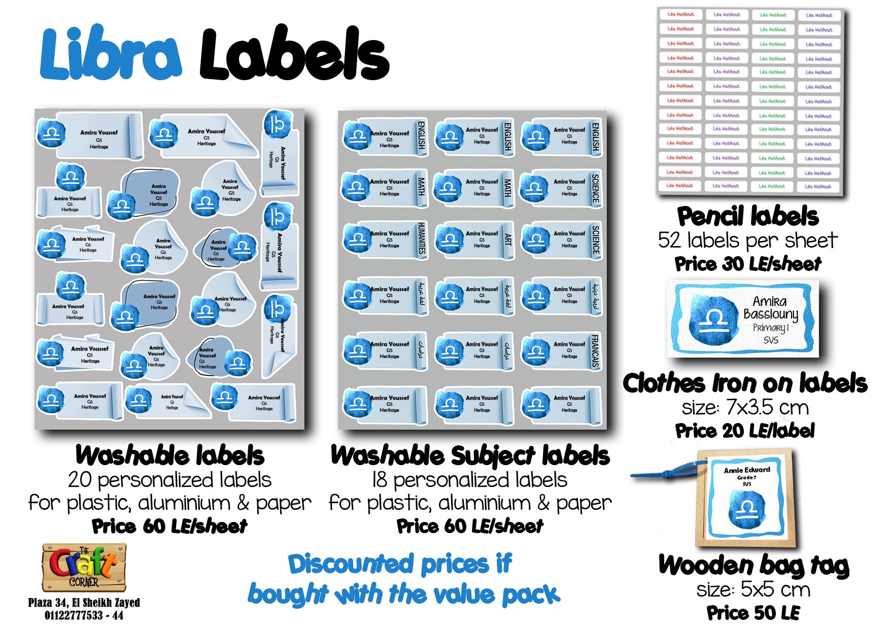 libra Labels