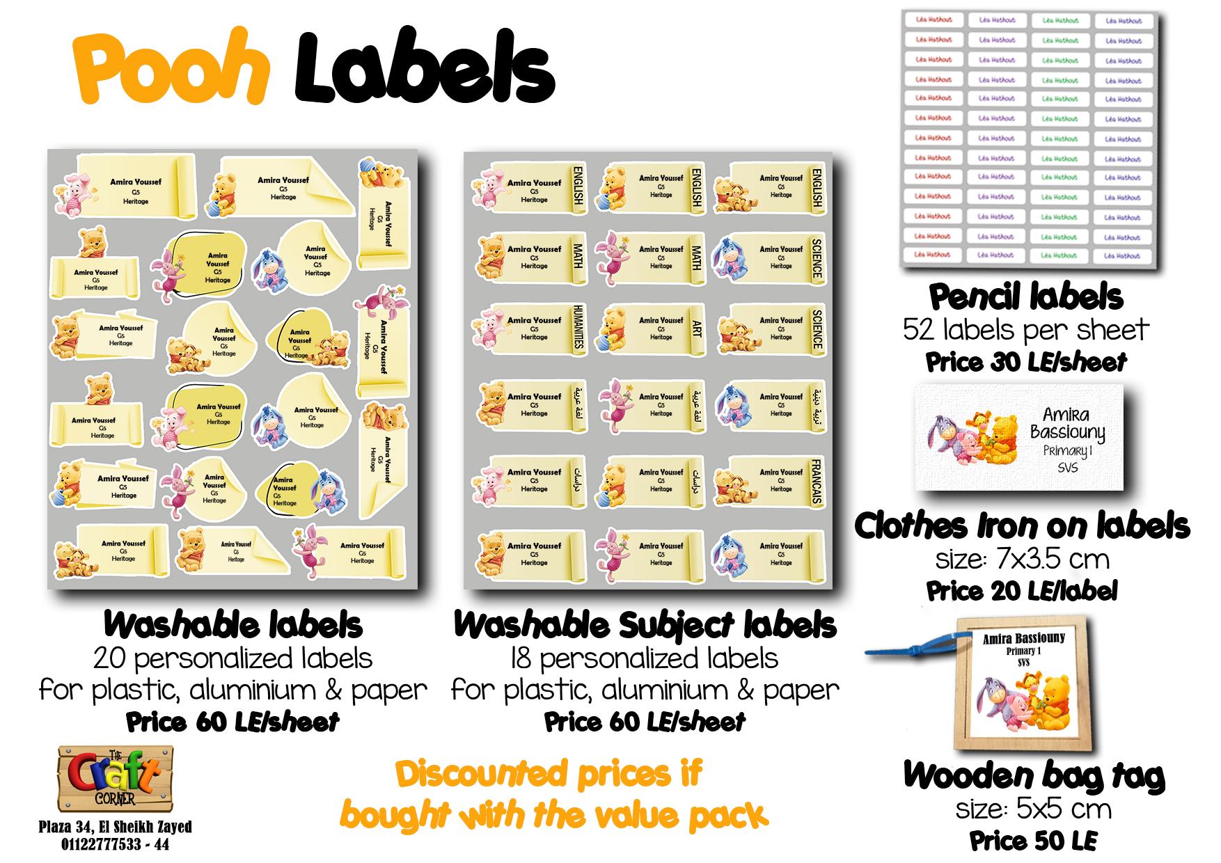 pooh Labels