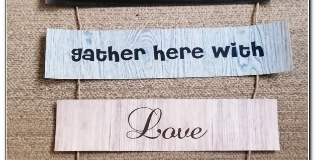 Decorative quotation wooden strips