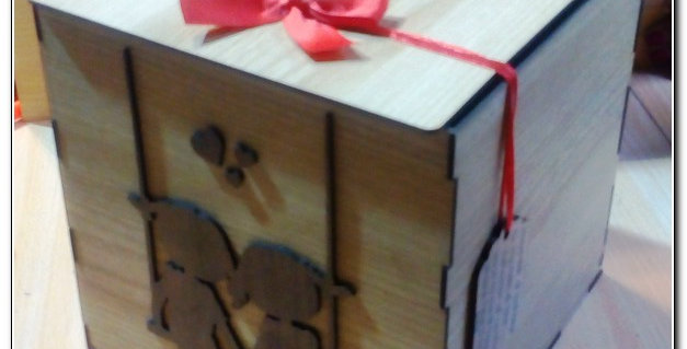 Personalized wooden hinged box