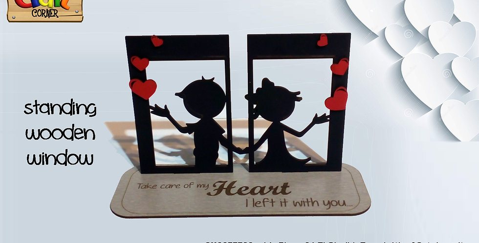 Valentine window table stand