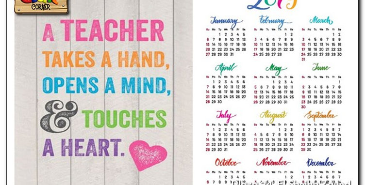 Personalized Teacher wooden based calendar