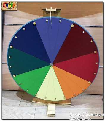 Wooden spinning wheel (1152)
