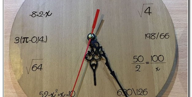 Personalized math teacher wall clock