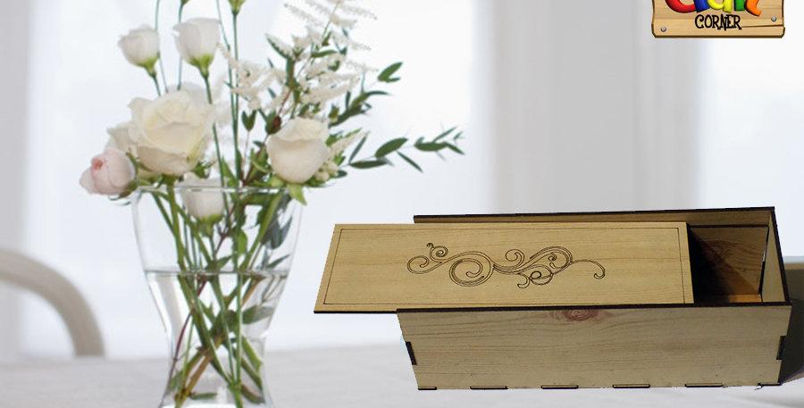 wooden rectangular box