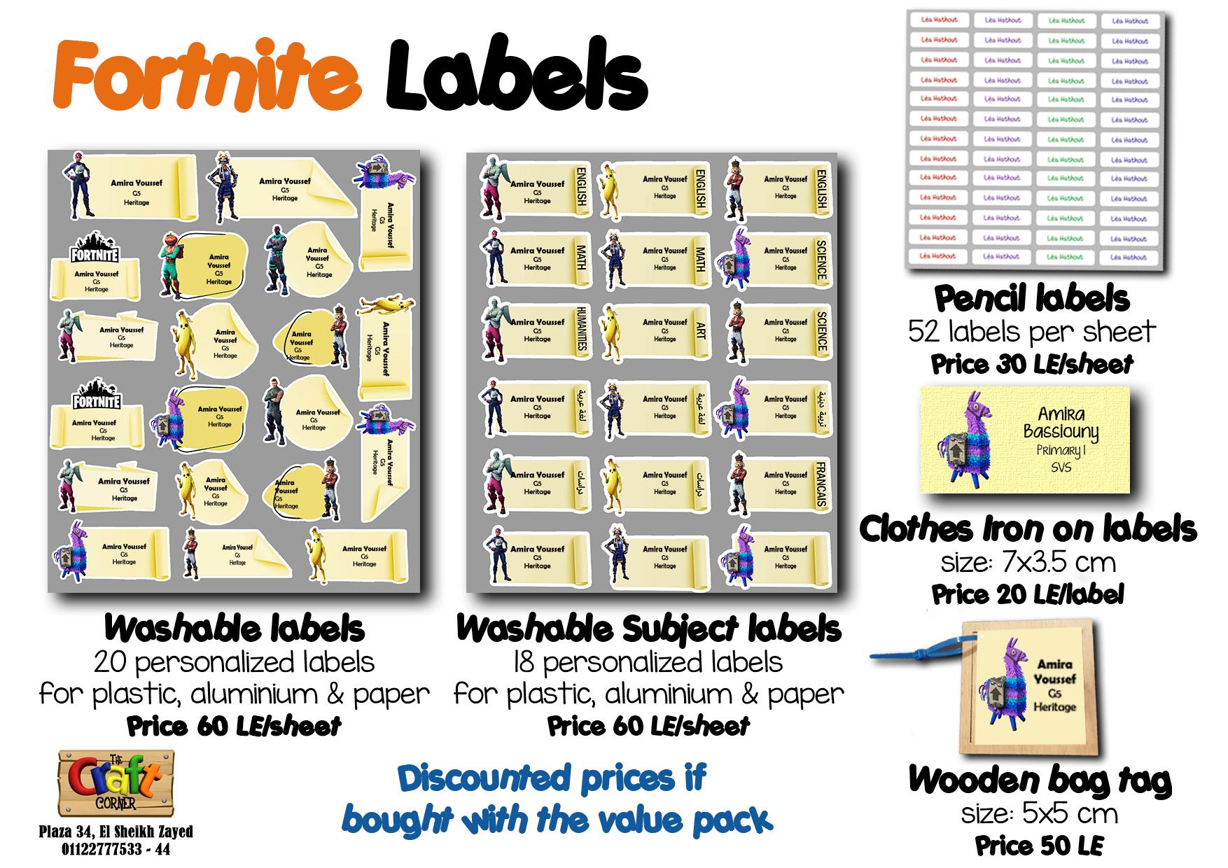Fortnite Labels