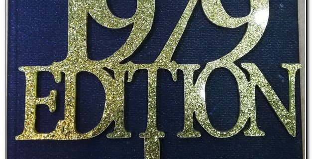 Gold Glittery Acrylic toppers