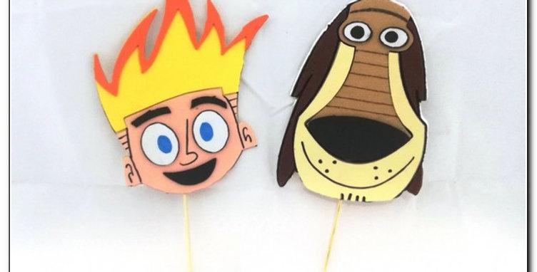 Cardboard sticker toppers