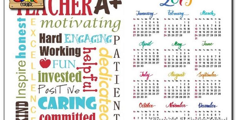 Personalized Teacher wooden based calendar