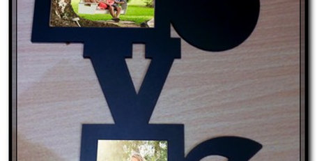 Love wooden picture frame