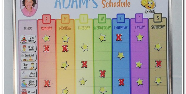 Personalized Magnetic weekly schedule